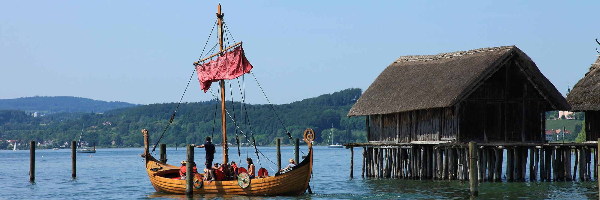Pêche sur un bateau viking