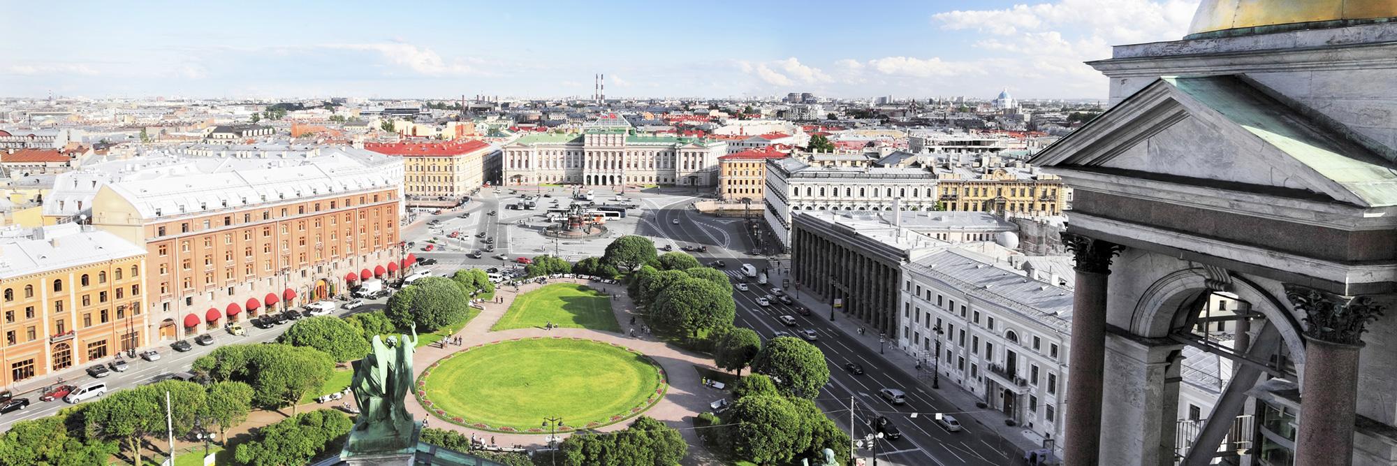 Visite de Saint-Pétersbourg par les toits