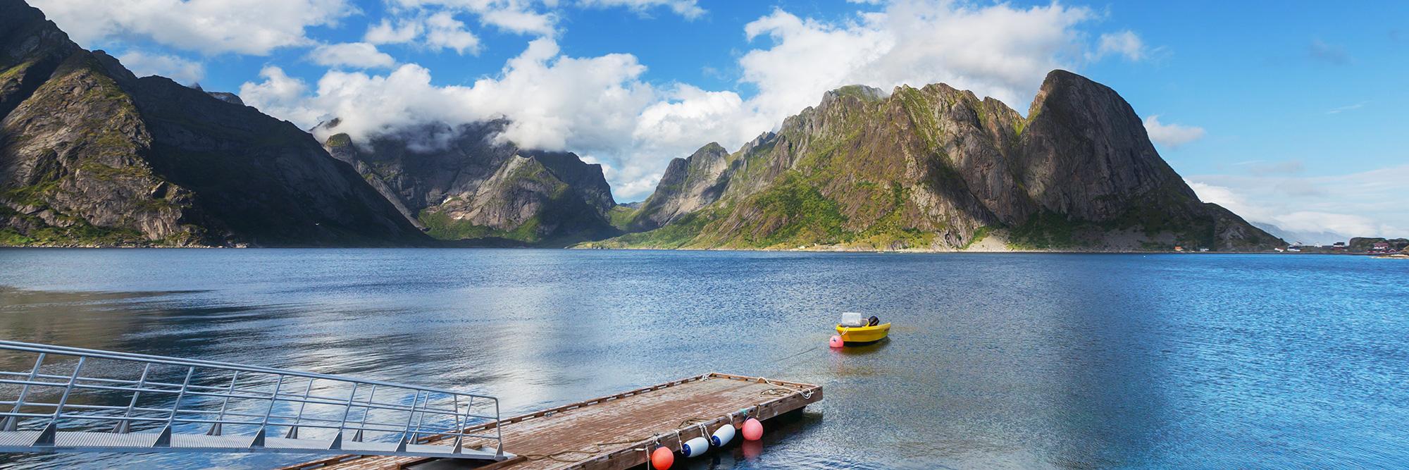 Zodiac dans l'archipel des Lofoten