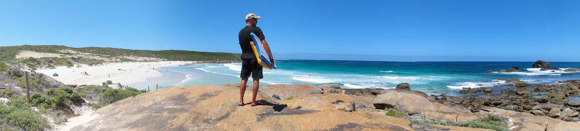Surfer à Margaret River