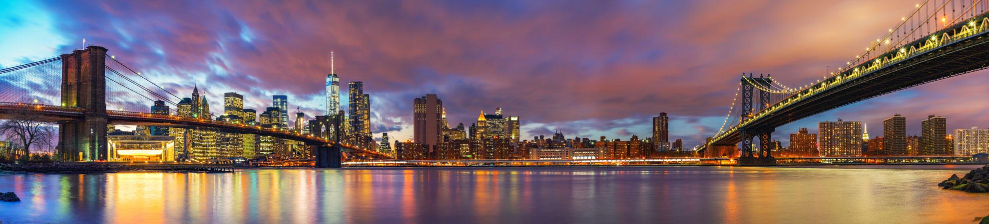 Manhattan, quartier de New York, extraordinaire ville des Etats Unis