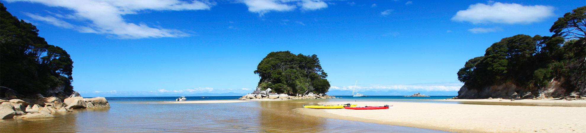 Journée de rêve en kayak à Abel Tasman