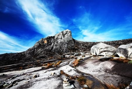 From the top of Mount Kinabalu