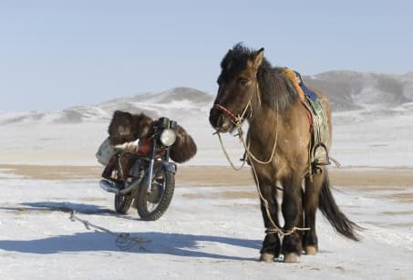 La Mongolie sous son manteau blanc