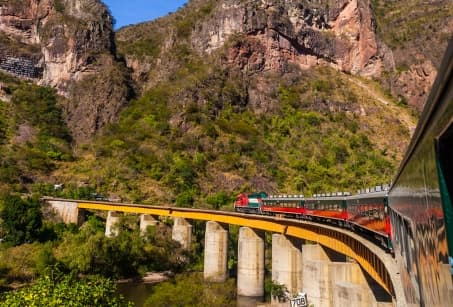 Traversée en train, le Canyon du cuivre