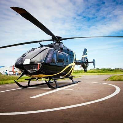 Survol d'Oslo en hélicoptère