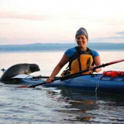 Kayak de mer au coucher de soleil - Havre-du-Bic