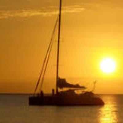 Coucher de soleil en voilier