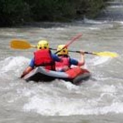 White water rafting on the Padas river