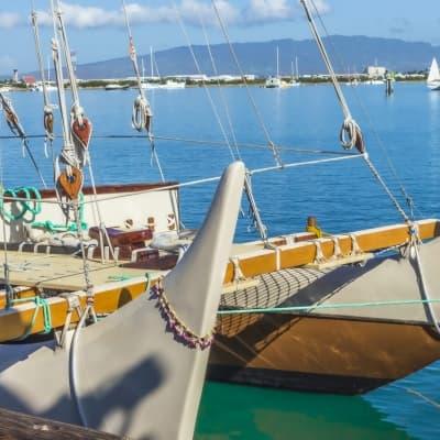 Visite du musée de la marine à Bora Bora