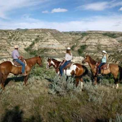 Balade à Cheval dans les Badlands du Dakota du Nord (1 heure)