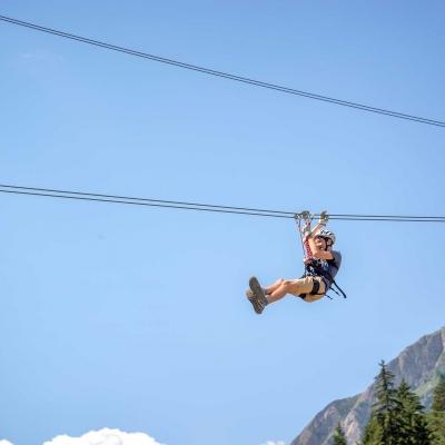 Parcours en tyrolienne