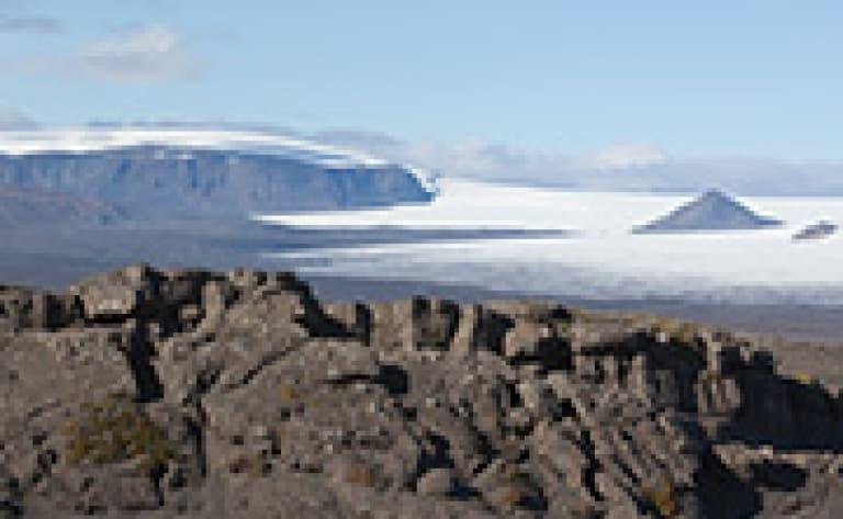 Sur le glacier Langjökull