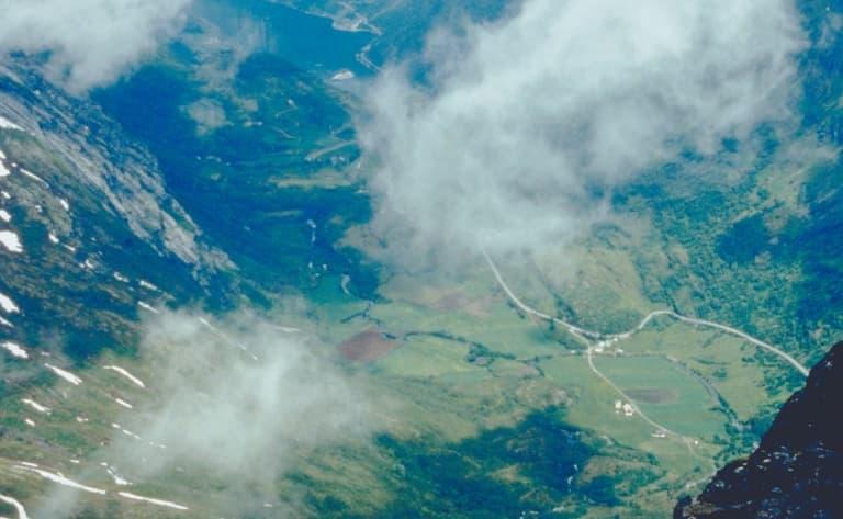 Vue panoramique depuis le Mont Dalsnibba