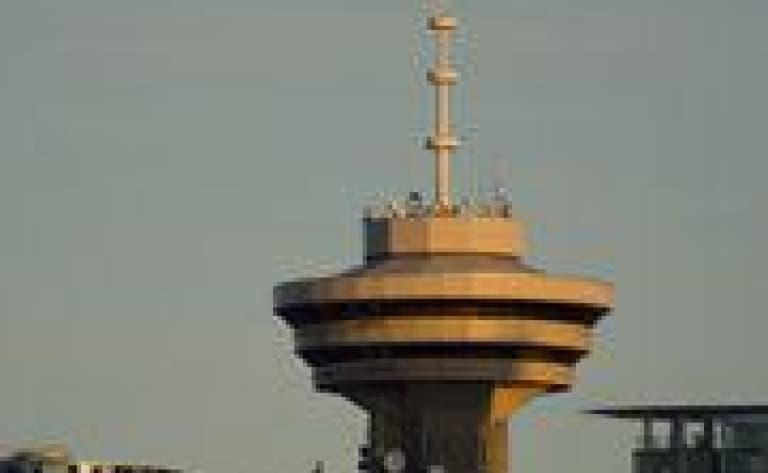 Gastown et la tour d'observation du Harbour Centre de Vancouver