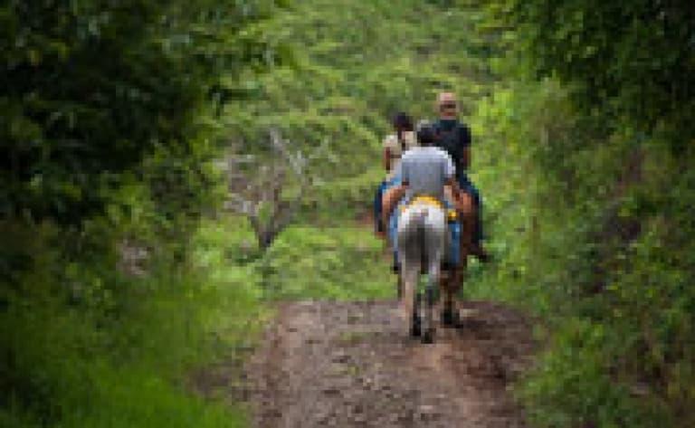 Balade à cheval vers la chute d'eau de la Fortuna
