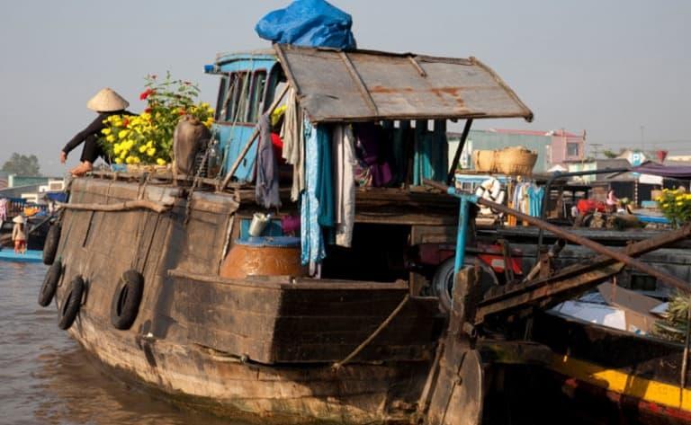 Croisière en sampan sur le delta du Mékong