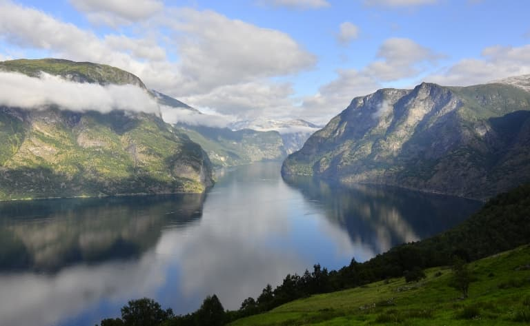 Sur le Sognefjord, le plus long de Norvège
