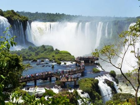 Les chutes, côté brésilien