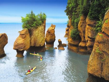 Parc National de Fundy et Kayak près des Rochers Hopewell