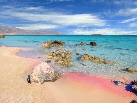 Plage de sable rose d'Elafonissi