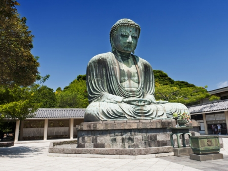 Admire the Daibutsu, a giant statue of Buddha, sculpted in 1252