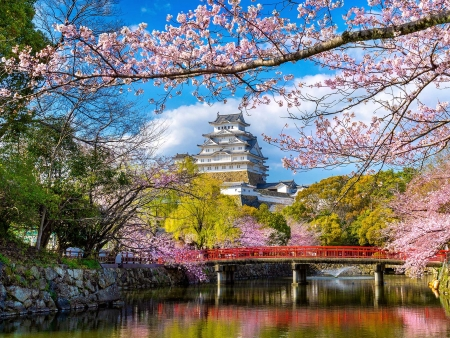 Château du Héron Blanc, jardin Koko-en et mémoire d'Hiroshima