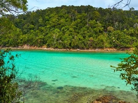 Criques protégées et plages désertes de Pulau Gaya