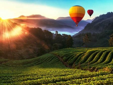 Une Chiang Mai mystique, vue du ciel