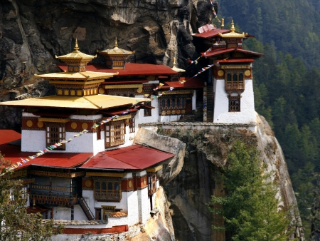 Dzong de Wandgue Pohrang et Dzong de Paro Rinpung