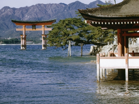 The sacred island of Miyajima and its Floating Torii