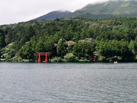 Lake Ashi and its hot springs and volcanic valley of Owakudani