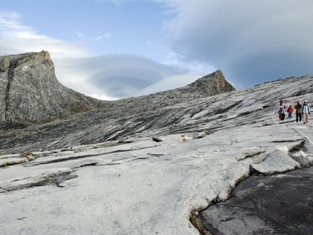 Starting to climb Mount Kinabalu