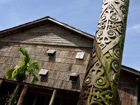 Visiting a longhouse and meeting the Iban