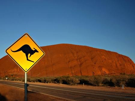 Uluru au lever du soleil