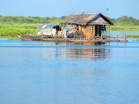 Le Lac Tonle Sap, classé au patrimoine mondial de l'Unesco