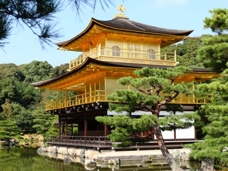 Discover the famous Kinkaku-ji temple; better known as the Golden Pavilion