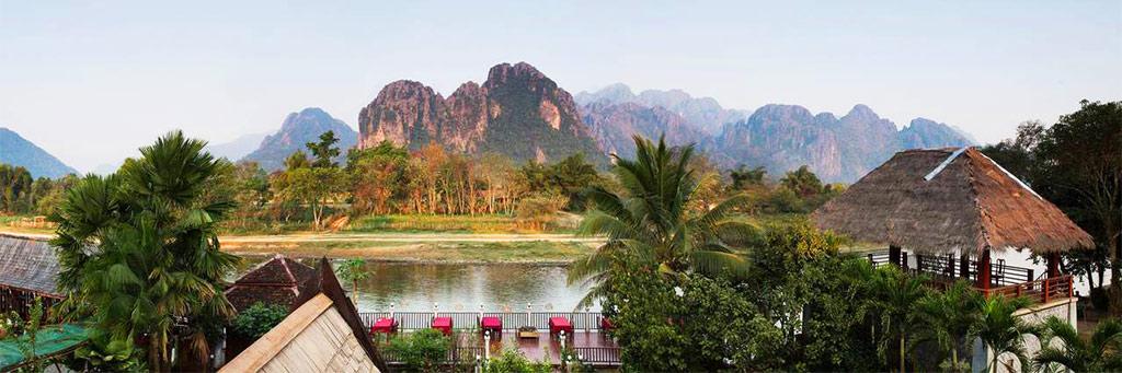 The Elephant Crossing - Vang Vieng