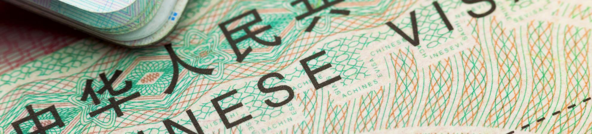 Visa pour un circuit en Chine